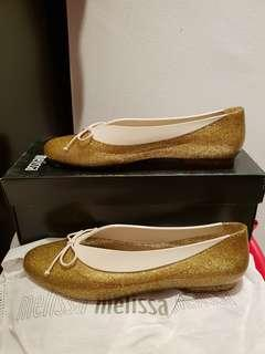 *New CNY Shoes* Authentic Melissa Just Dance Gold US7