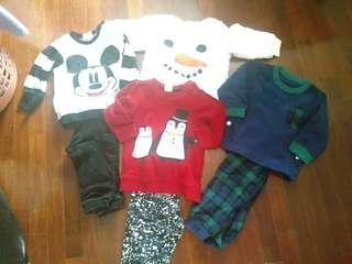 Baby sweater and pants in sets