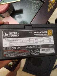 650w power supply unit 80 plus gold