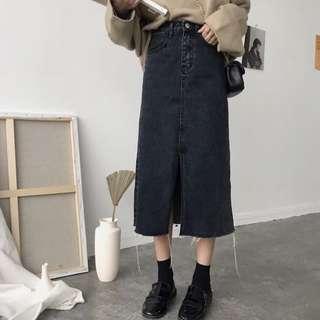 Denim Maxi Skirt