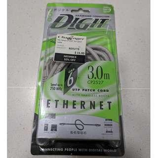 Digit 3.0m Cat6 Ethernet with Snagless Boots
