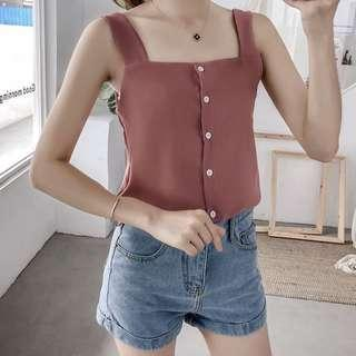 [BN] Mika Buttoned Broad Strappy Top