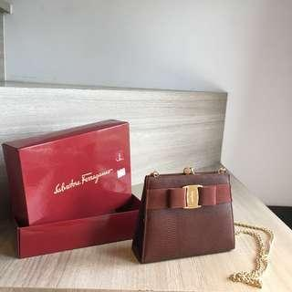 (Reserved) Salvatore Ferragamo Vintage Sling Chain Bag