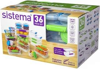Sistema Klip It Collection Multi Piece Food Storage Containers, Set of 6 36-Piece