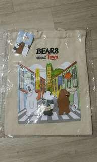 We bare bears canvas tote bag