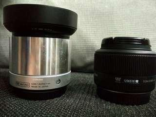 *Price reduced* Sigma and Olympus prime lenses for sale