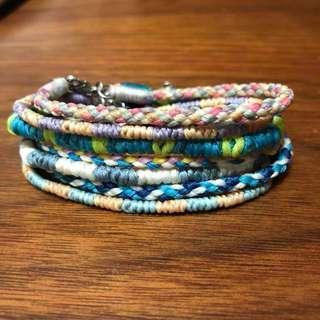 蠟繩編織手鏈