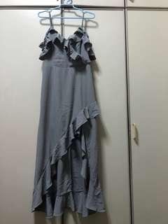 mds - Grey Cold Shoulder Dress (M)
