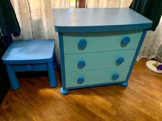 Kid's Chest of Drawers & Side Table