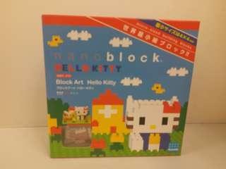 全新 nanoblock Block Art Hello Kitty