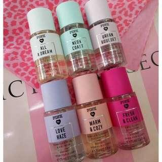 FREE ONGKIR Victoria secret pink body mist 75ml travel size