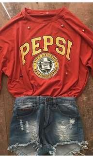 long sleeved pepsi shirt