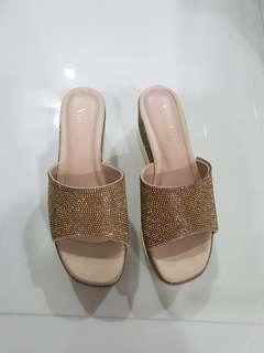 Bronze Shimmer Sandals