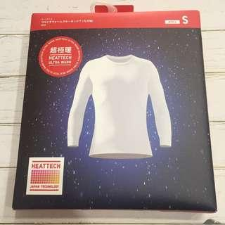 🚚 日本UNIQULO男超級暖發熱衣 白色S