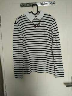 zara knited stripes