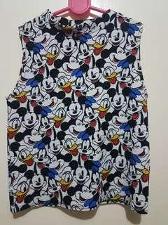 Mickey and Donald Duck Blouse