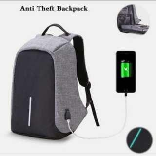 Anti Theft Water Resistant Multi Compartment Laptop Backpack With Charger! (RTP $60, LIMITED TIME FLASH SALE!)