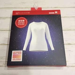 🚚 日UNIQULO女超級暖發熱衣白色M