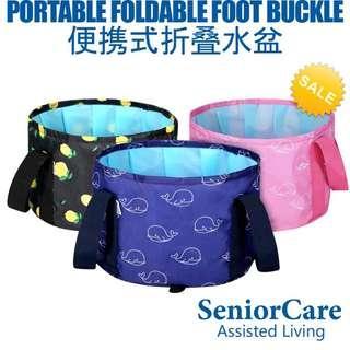 Multipurpose Compact Foldable Travel Foot Bucket Purple Whale