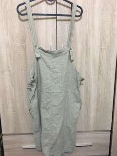 亞麻簡約吊帶裙