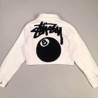Stussy women 8ball denim jacket