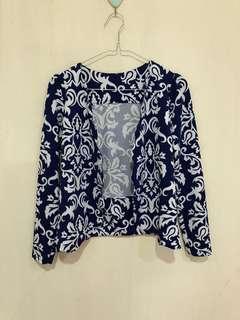 Batik navy cardigan