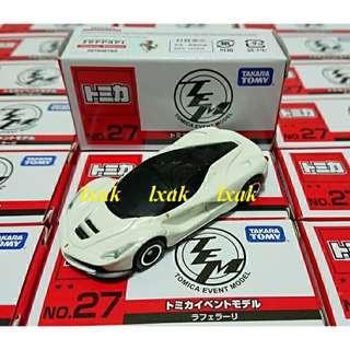 COLLECTION of #062-11 LaFerrari Japan Exclusive Tomica Event Model #27 Ferrari