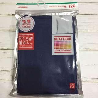 🚚 UNIQULO120公分穿兒童發熱衣 深藍色款