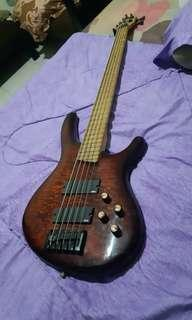 Bass cort made korea aktif EMG series 2 pickup + boster effect tone EMG freatboard maple