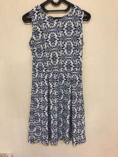 Batik navy mini dress