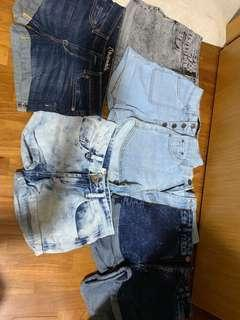 SALE UNDER $10 denim shorts