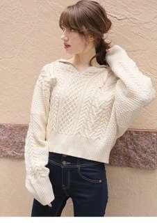 ✨HIT!必入!日本19春heather 學院風針織毛衣外套