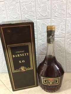 70CL  VERY OLD COGNAC BARNETT XO OFFER PRICE KEEP OVER 30YEARS  OLD VINTAGE 👍👍👍🤠