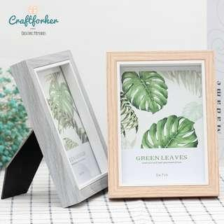 🚚 Wooden Style Photo Frame for 4R, 6R Photos, Picture Frame in Grey and Brown