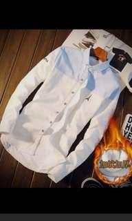 韓版潮流修身加絨加厚長袖保暖衫