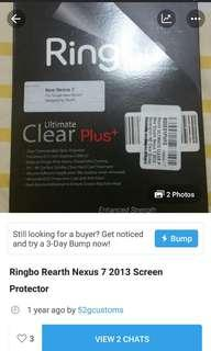 Ringbo Rearth Nexus 7 2013 Screen Protector