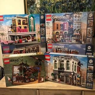 *6 sets* MISB Lego Modular and Ideas Bundle Sets