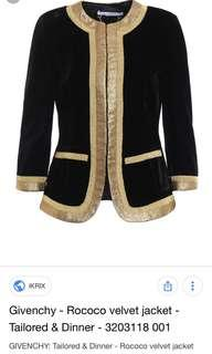 Givenchy velvet jacket blazer