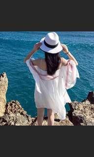仙氣氣質度假洋裝孕婦裝