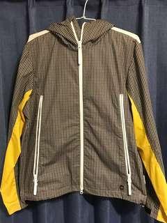 Adidas originals 經典黑灰格紋風衣防潑水外套