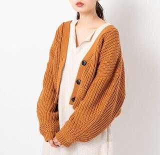 ✨NEW!必入~日本19 kastane 泡泡型針織毛衣外套