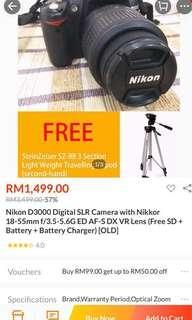 Nikon D3000 18mm-55mm Vr Kit