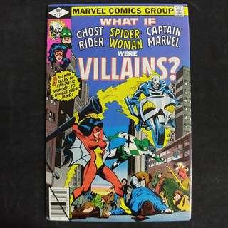 What If #17 (1979) Ghost Rider Spider-Woman and Captain Marvel were Villains? - Marvel Comics / Bronze Age