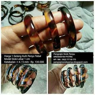 Gelang kulit penyu / gelang sisik penyu / gelang pendok / gelang kea
