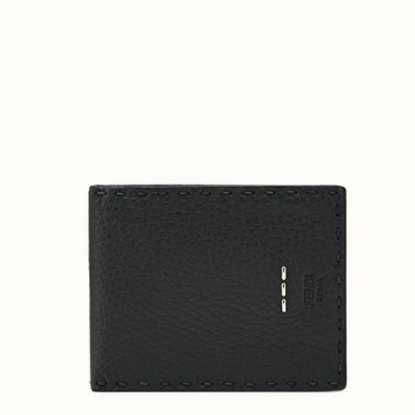 9390c13ce3 💖 Fendi Selleria Bi-fold Wallet in Black Leather