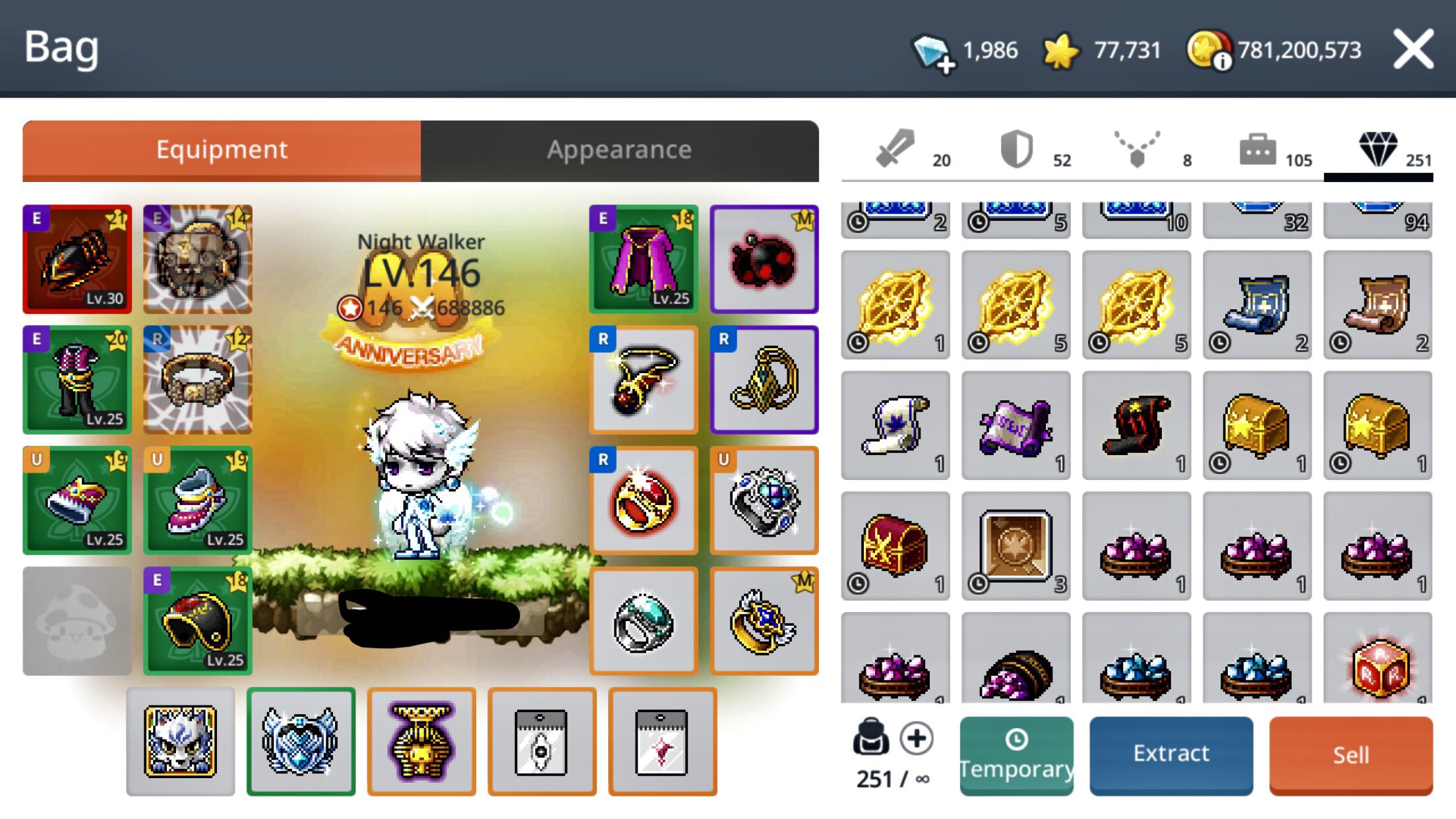 A2S Maplestory M ACC FOR SALE
