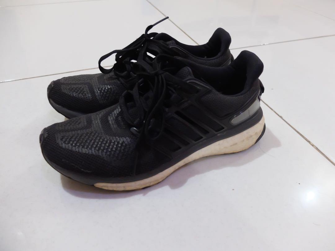 93d2839ab Adidas Energy Boost Original Women 39 Sneakers Sepatu Lari Hitam ...