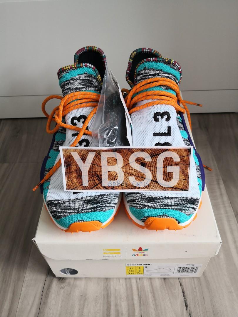 f8c4eb338 Adidas NMD Hu Pharrell Solar Pack Orange