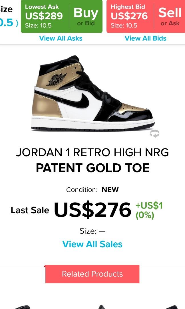 buy online 595cb 71893 Air jordan 1 gold toe, Men s Fashion, Footwear, Sneakers on Carousell