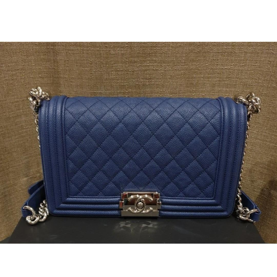 Authentic Chanel Boy Medium Flap Bag 41250c505d